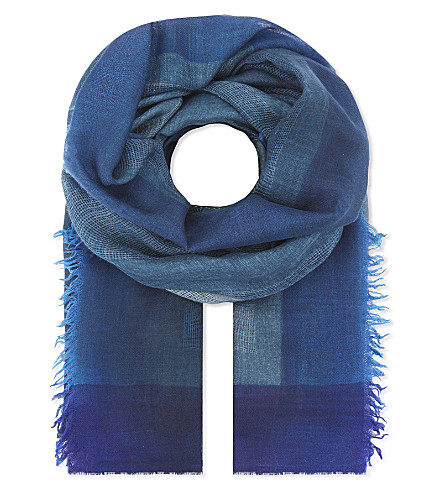 DIANORA SALVIATI Olivia colour-block scarf (Grey/petrol