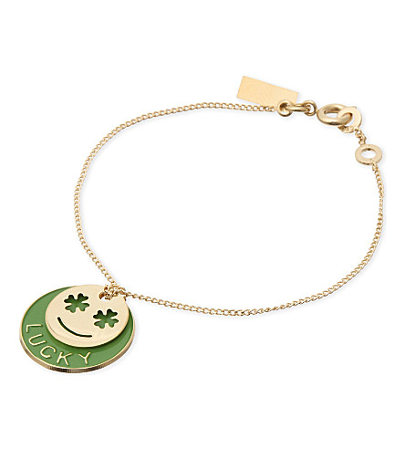 LA MOME BIJOU Silly Icons Lucky gold-plated bracelet (Gld/green