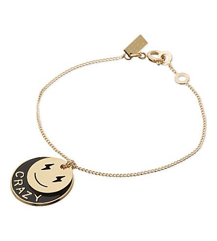 LA MOME BIJOU Silly Icons Crazy gold-plated bracelet (Gld/black