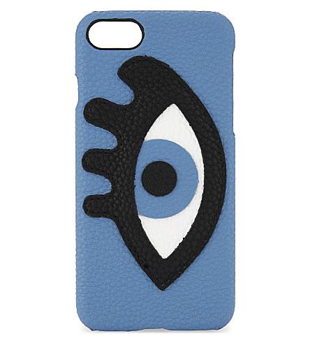 IPHORIA Appliqué eye faux-leather iPhone 7 case (Multi