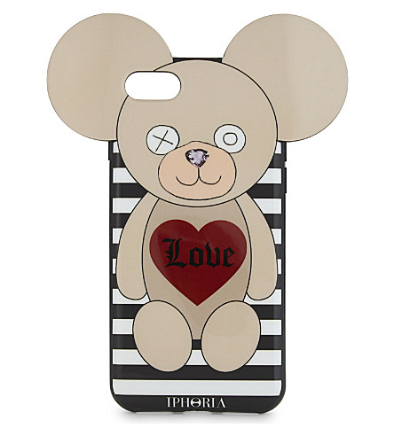 IPHORIA Teddy bear iPhone 7 case (Love+stripes