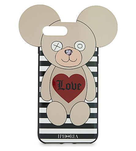 IPHORIA Teddy bear iPhone 7+ case (Love+stripes