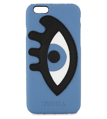 IPHORIA Appliqué eye faux-leather iPhone 6/6s case (Multi