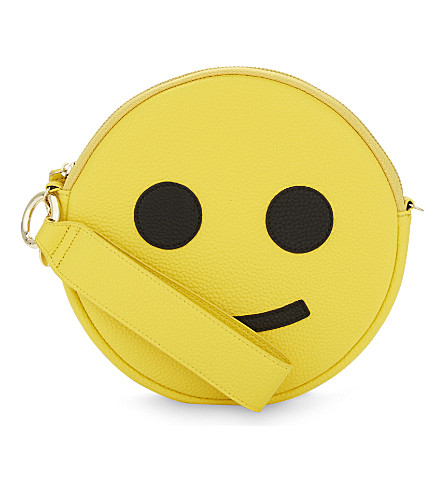 IPHORIA Smiley face faux-leather cross-body bag (Multi