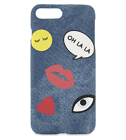 IPHORIA Teddy and patches phone case for iPhone 7 Plus (Multi
