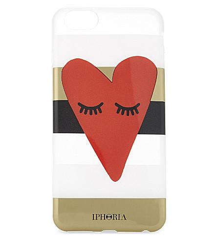 IPHORIA Heart stripe transparent iPhone 6+ case (Multi