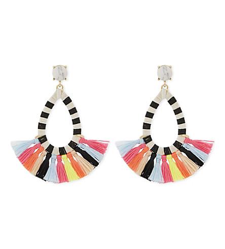 BAUBLEBAR Summer tassel drop earrings (Multi