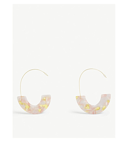 BAUBLEBAR Faidra multi-coloured resin earrings (Pink