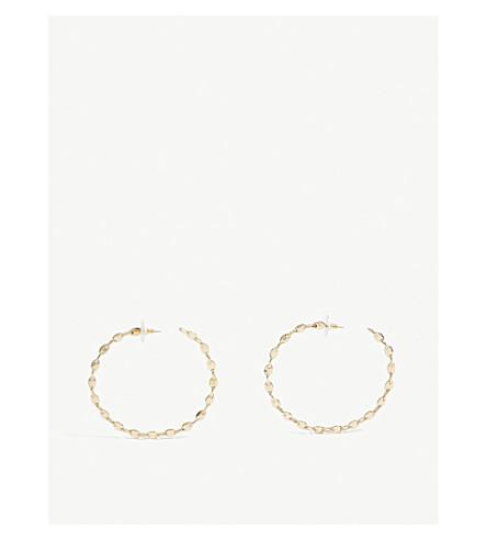 BAUBLEBAR Savra gold-toned brass hoop earrings (Gold