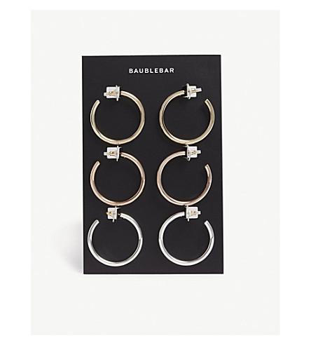 BAUBLEBAR Jordan hoop earring set (Multi