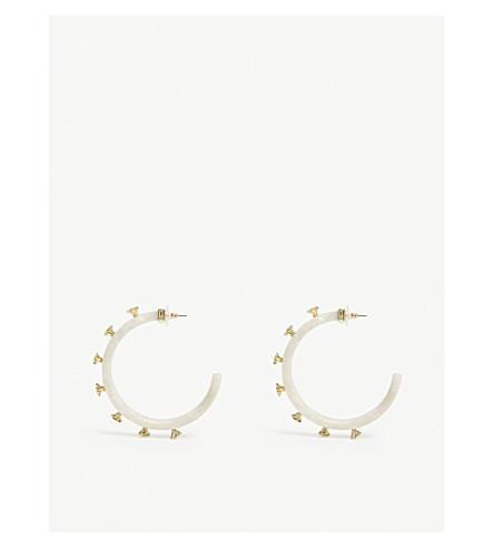 BAUBLEBAR雅诗兰黛醋酸和镀金箍耳环 (象牙