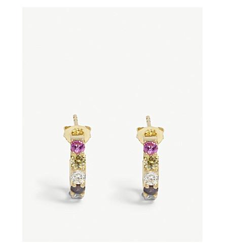 BAUBLEBAR Stone hoop earrings