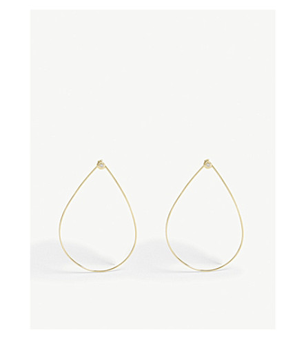 BAUBLEBAR Front-facing gold-toned earrings (Gold