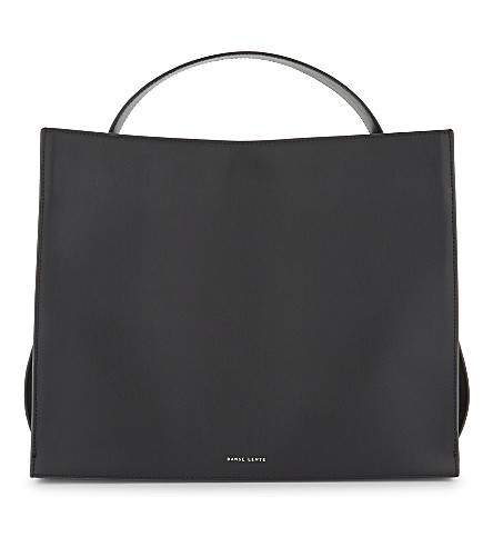 DANSE LENTE Young leather shoulder bag (Black