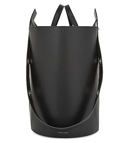 DANSE LENTE Lorna calf-skin leather bucket bag (Black