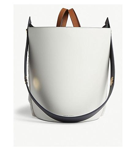 MINI LORNA SMALL LEATHER BUCKET BAG