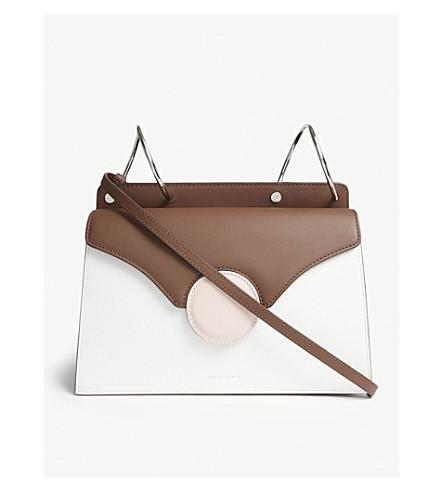 DANSE LENTE Phoebe leather shoulder bag (Bianco/brown