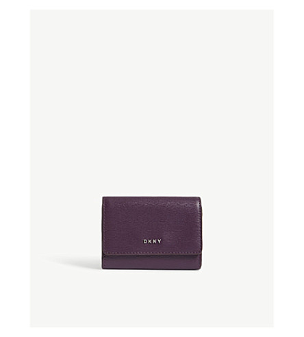 DKNY Bryant textured leather mini wallet