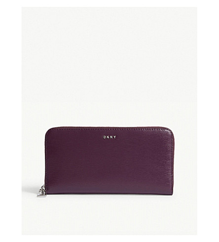 DKNY Bryant textured leather zipper-around wallet