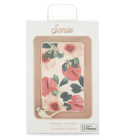 SONIX On Holiday Pick Me Up portable iPhone charger (Pink