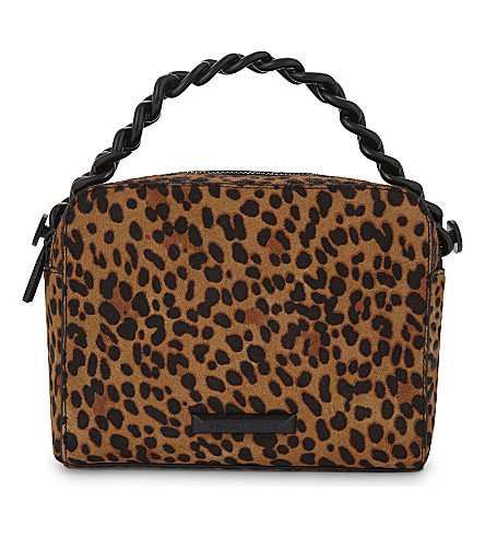 KENDALL & KYLIE Lucy leopard print pony-hair cross-body bag (Leopard