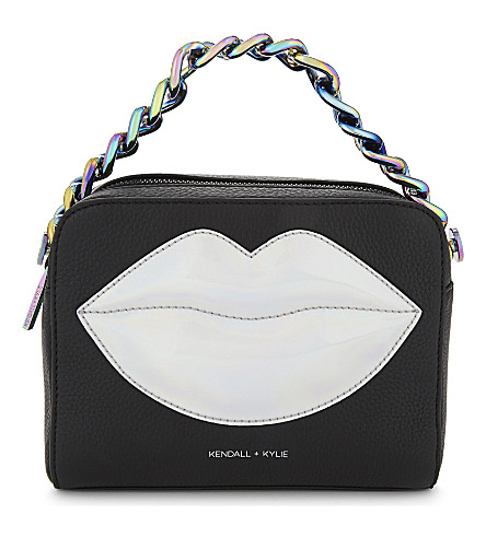 KENDALL & KYLIE Lucy lips cross-body bag (Black/iridescent