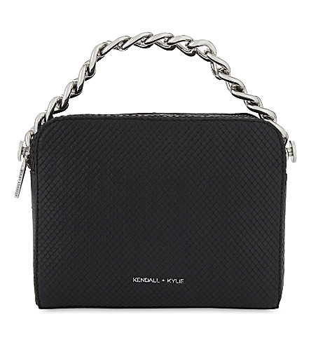 KENDALL & KYLIE Lucy leather cross-body bag (Black/nickel