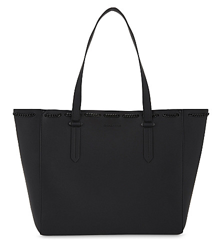 KENDALL & KYLIE Izzy chain leather tote (Black