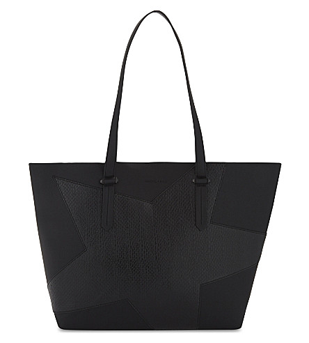 KENDALL & KYLIE Izzy star leather tote (Black