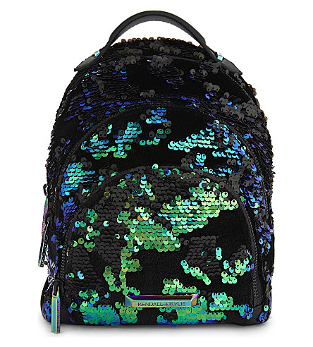 KENDALL & KYLIE Sloane sequin detail backpack (Iridescent