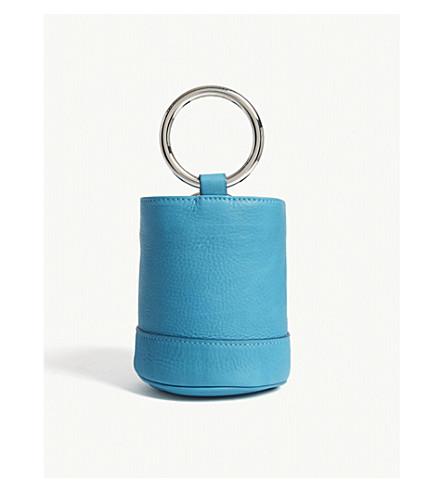 SIMON MILLER Bonsai 15 mini suede bucket bag (Peacock
