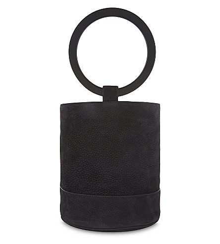 SIMON MILLER Bonsai nubuck bucket bag (Black