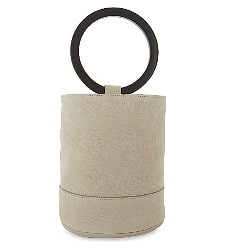 SIMON MILLER Bonsai 20 medium II nubuck bucket bag (Pearl