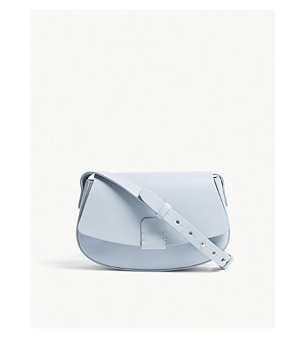 NICO GIANI Lobivia mini leather cross-body bag (Light+blue