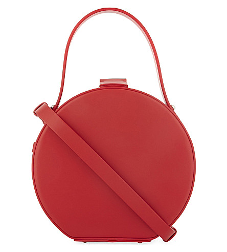 NICO GIANI Tunilla leather circle bag (Red