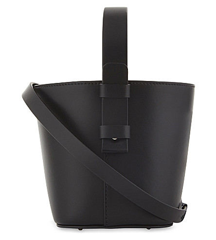 NICO GIANI Adenia mini leather woven bucket bag (Black