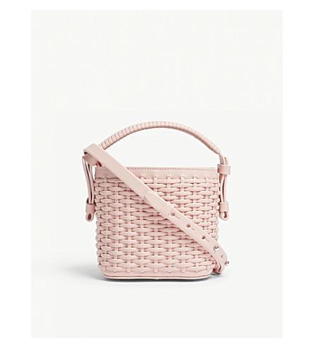NICO GIANI Adenia mini leather woven bucket bag (Pale pink woven