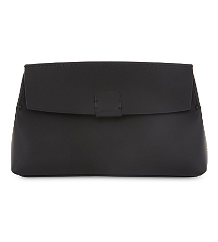 NICOGIANI Hoodia leather clutch bag (Black