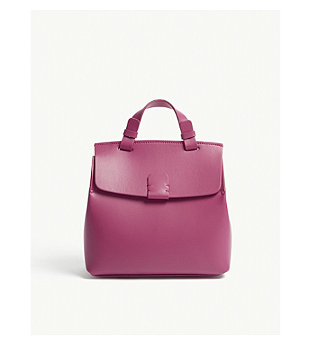 NICO GIANI Hoodia leather backpack (Fuxia