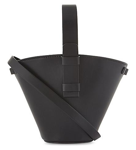 NICO GIANI Nelia mini woven leather bucket bag (Black