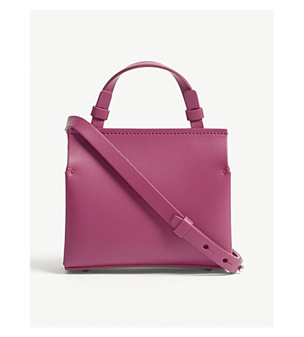 NICO GIANI Voltea mini leather tote (Fuxia