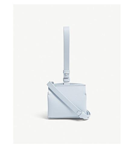 NICO GIANI Voltea leather micro bag (Light+blue