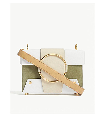 YUZEFI Asher leather shoulder bag (Bamboo/bianco