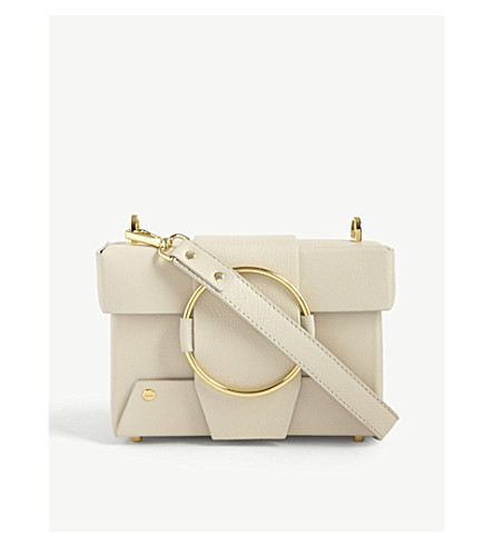 YUZEFI Asher leather shoulder bag (Cream