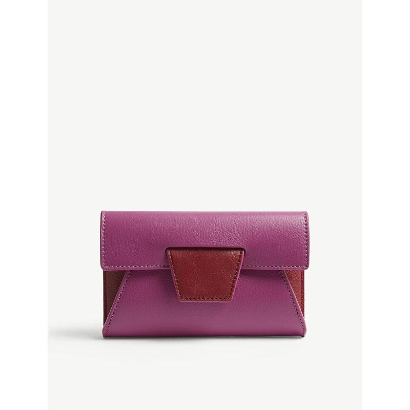 YUZEFI Lolita grained leather wallet