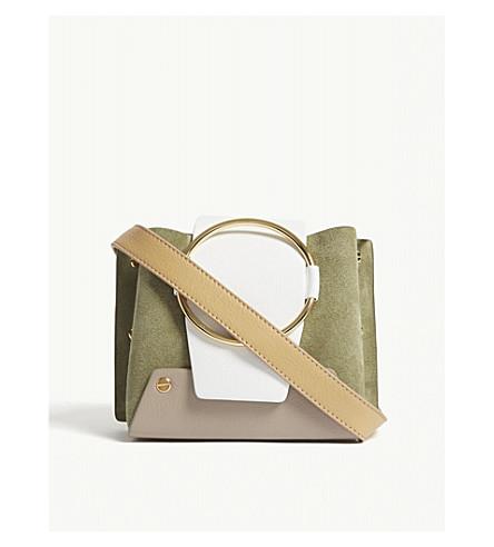 YUZEFI Mini Delila leather shoulder bag (Bamboo/savanna