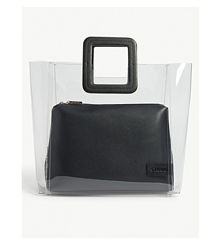 Shirley large PVC and leather tote