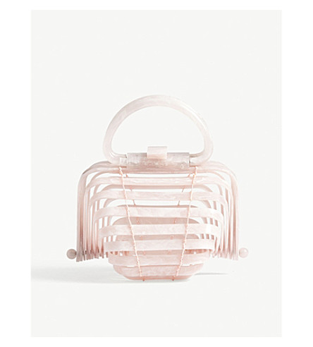 CULT GAIA The Lilleth small acrylic handbag (Pink
