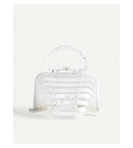 CULT GAIA Acrylic Lilleth clutch bag (Pearl
