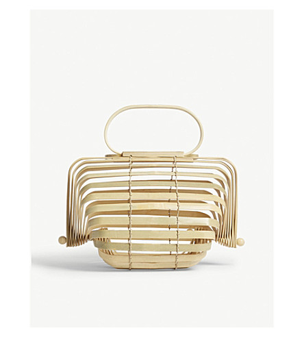 CULT GAIA The Lilleth small bamboo handbag (Natural